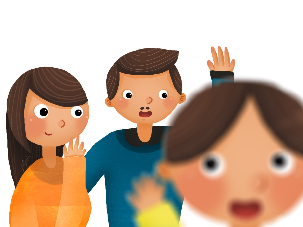 Foto Keluarga (Family Photo) potrait colorful boy baby kids playing childrens colourfull colorfull kidbook illustration cute design children books children book illustration children book children art cartoon