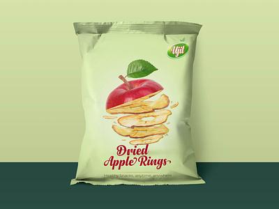 Dried Apple Rings Packaging febin-raj branding vector minimal dribbble identity typography brand design packaging design advertising design branding design