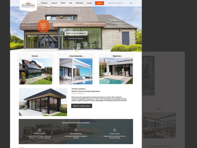 Homepage poolhouses etc photoshop design home overview ux ui homepage