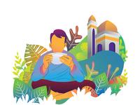 Ramadhan Karim near masjid
