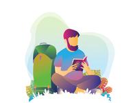 Backpacker Read Quran