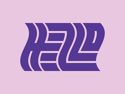 Hello! letterform typogaphy illustrator design ciao hello