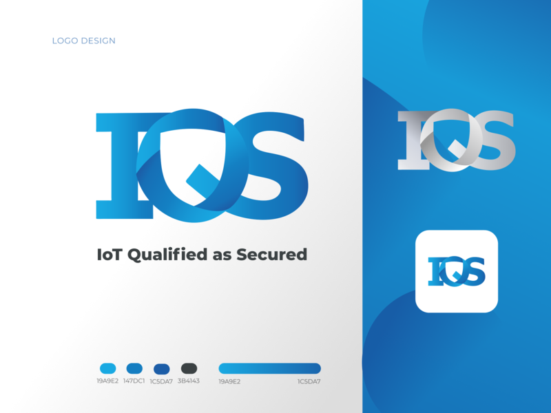 Logo design for an IoT company cybersecurity security brand identity gradient blue logo design visual design label branding brand logodesign logo internet of things