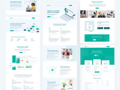 Redesign web site Alegra webdesign website figma illustration interface graphicdesign design contabilidad landingpage software accounting casestudy uidesign ui webpage landing redesign