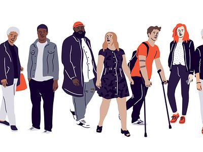 Eventbrite New Illustration System diversity illustration design illustration system procreate eventbrite characters illustration