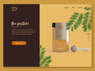 Honey Moon website concept ui design uidesign nature design website design honey website honey product page webdesign website colors design ui