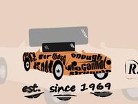 Car Typography model