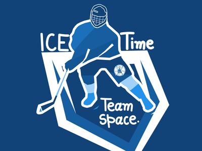 Team space sports logo