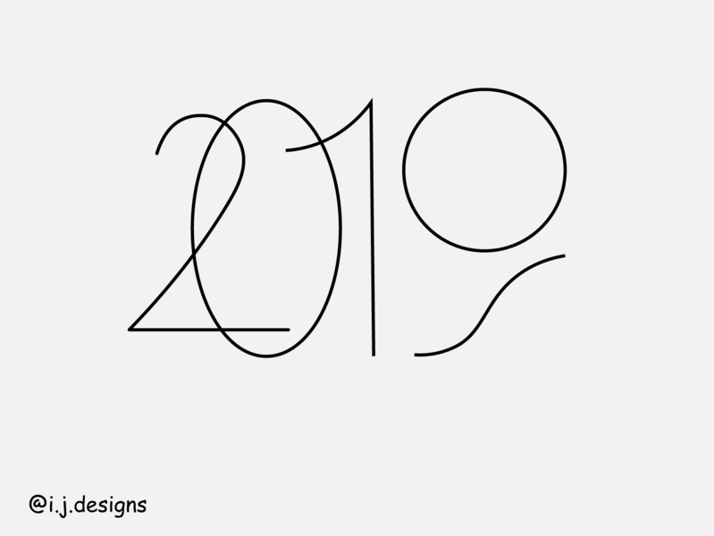 2019 poster minimal vector typography design graphic logo lettering