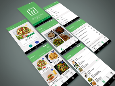 Tinder for Recipes recipes meal planning tinder material mobile ux ui app design app