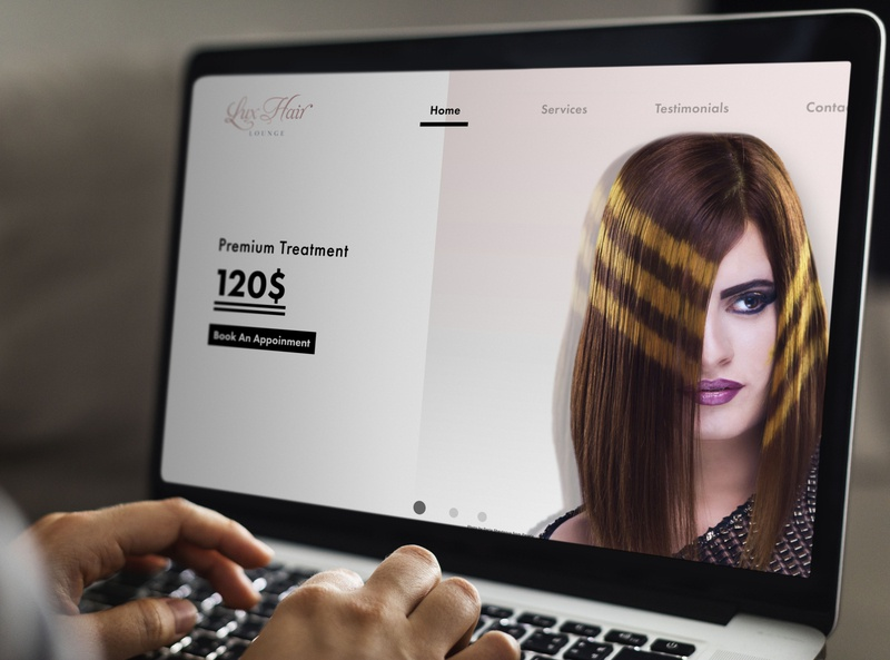 Lux Hair Lounge ||  Web Design