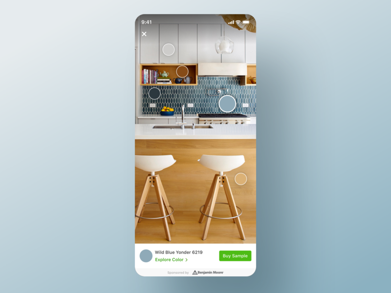 Houzz iOS App - Color Picker houzz design team photo page lightbox ios app ui ux product design design drawer selected colors palette home photo button modal iphone paint colors ios mobile app houzz