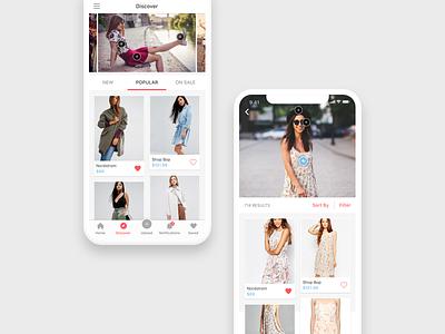 Syte App shop similar items fashion app app design ios app iphone interactive product design image recognition mobile ui ux