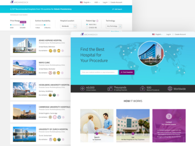 Archimedicx Website ״medical tourism״ hospital website hospital product interaction design animation branding responsive mobile web ui ux