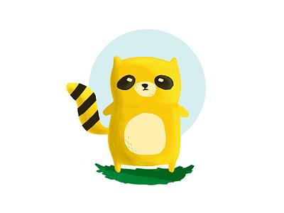 Raccoon raccoon illustration digitalart