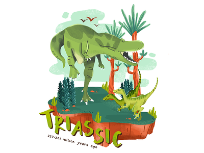 Triassic dino illustration digitalart dinosaur