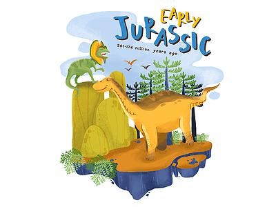Jurassic dino illustration digitalart dinosaur
