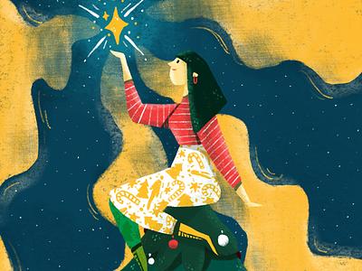Christmas Lights digital stars ipadpro procreate sketch illustrations christmas