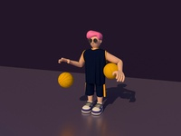 C4D Basketball players 02