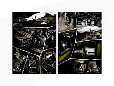 Kaçak - Comic Books Illustration