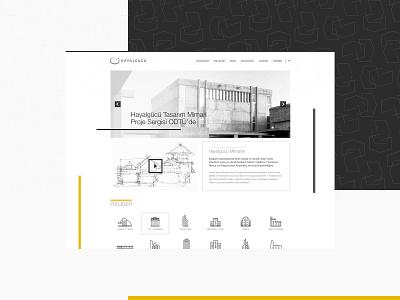 Hayalgücü Architecture Web Design architecture design webapp ix ui branding istanbul website design website web