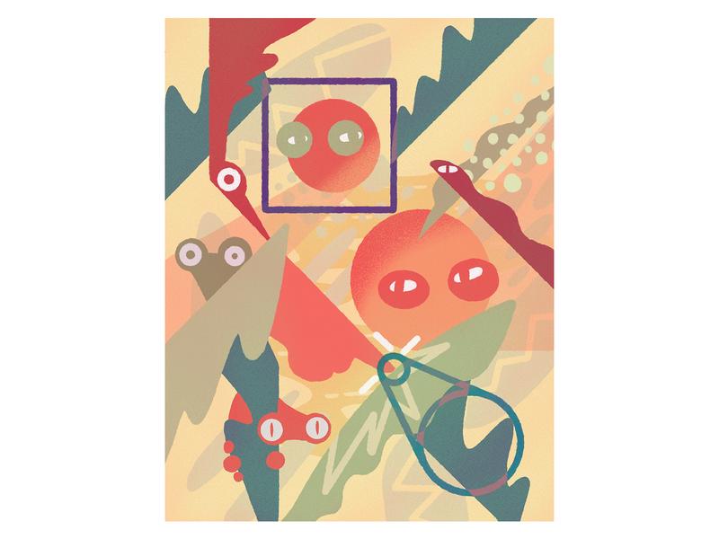 Jungle ipad procreate vector design illustration