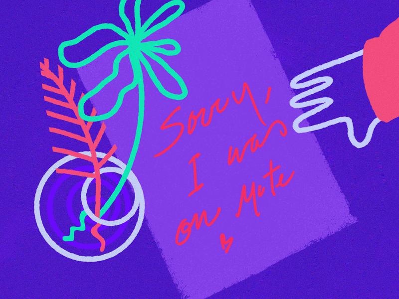 Love letters humorous illustration humor character flower mute conference work digital letter love