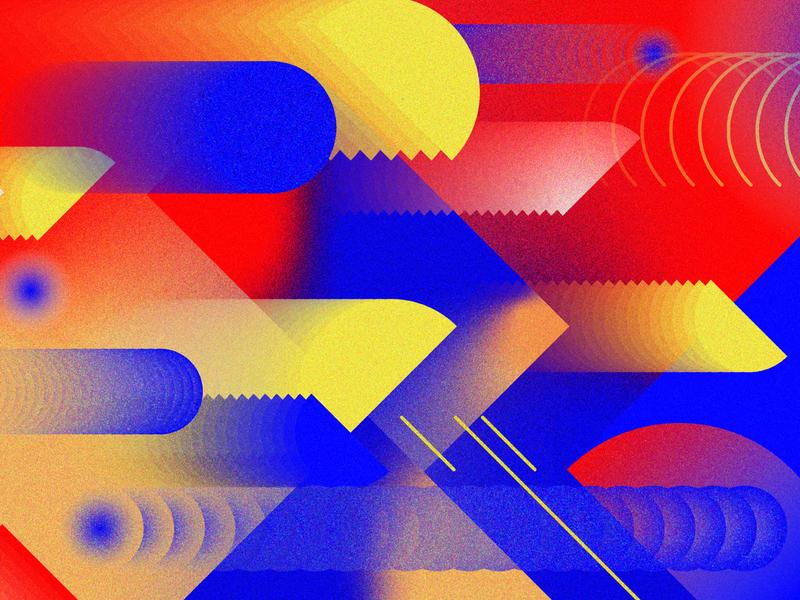 Other dimensions color gradient geometry geometric digital design illustration