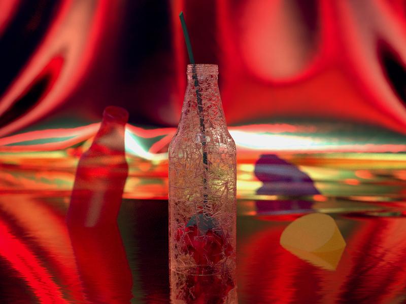 Red 01 3d illustration design