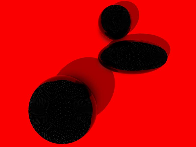 Red 02 color 3d illustration design