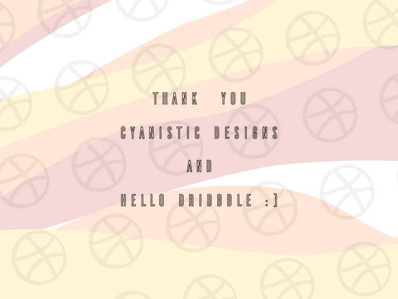 Hello Dribbble! vector graphic  design illustration flat design art cartoon design