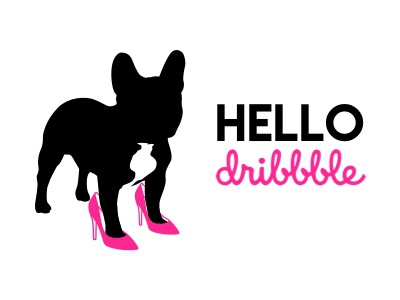Hello Dribbble dogs fabulous welcome design french bulldog hello