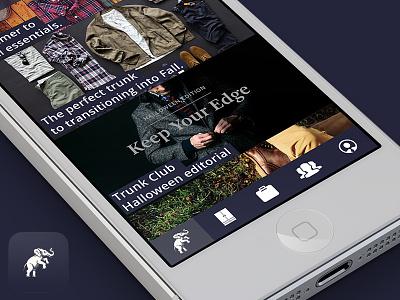 Trunk Club Redesign Concept  ui ux ios app redesign concept trunk club depute ios7 ios8 iphone