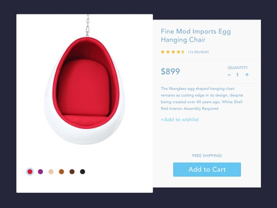 Add to Cart product card challenge design rebound ux ui