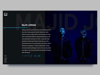 OVO Sound artist music redesign website shadows gradients ui majid jorden drake sound ovo