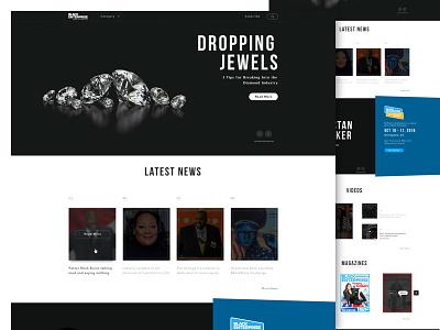 Black Enterprise Redesign Concept footer conference enterprise black minimal magazine video news website redesign ux ui