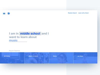 Landing Page Concept clean concept learn ux ui landing page simple