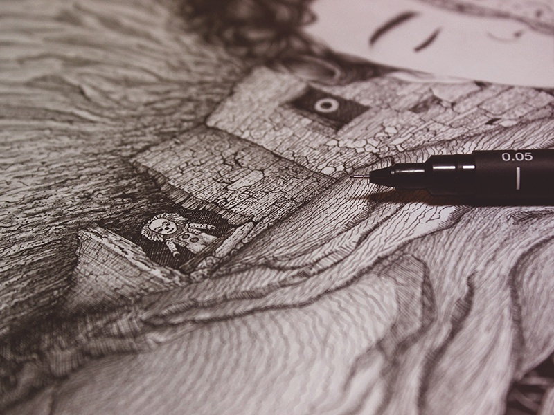 Engraved Memories - Detail realistic details inking pencil drawing pencil illustration peakcock illustration pencils ink drawing fineart