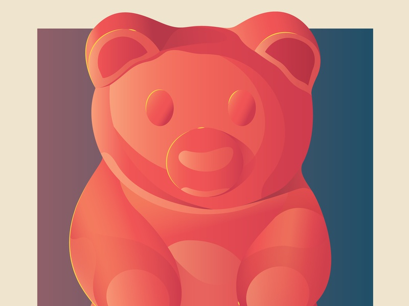 Fantastic Meals And Where To Find Them candy gummy bear bear food illustration