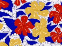 Mexico flower pattern