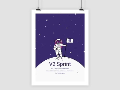 D2iQ Sprint Poster mesosphere d2iq graphic design engineering sprint poster illustration