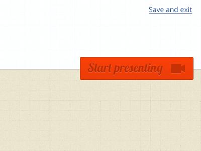 Start presenting ui button user interface
