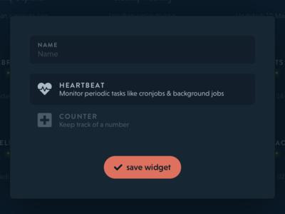 New widget widget ui dark dashboard robodash