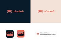 Robodash logo mockup v2 dashboard mockup robot logo robodash
