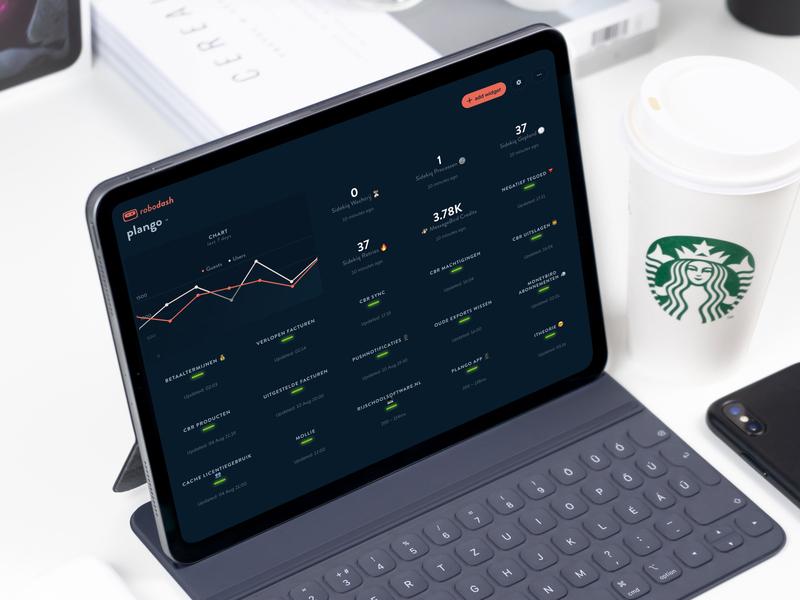 Robodash in the wild on an iPad interface dashboard user interface