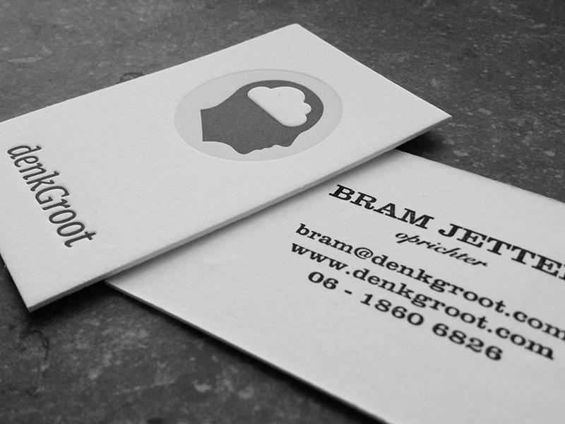 Letterpress letterpress business cards denkgroot bram jetten