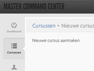 Admin panel admin interface backend ui navigation