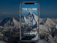 Splash Screen of a Mountaineering App