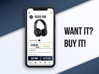 Product Page UI of a Shopping Application