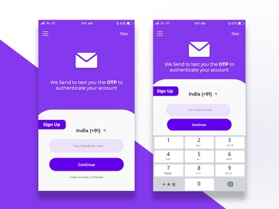 Mobile Number Verification | OTP verification UI design
